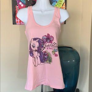 Women's My Little Pony light pink  tank top.